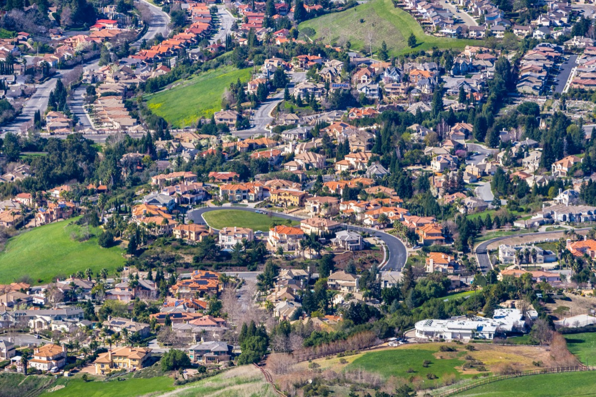 aerial view of fremont california