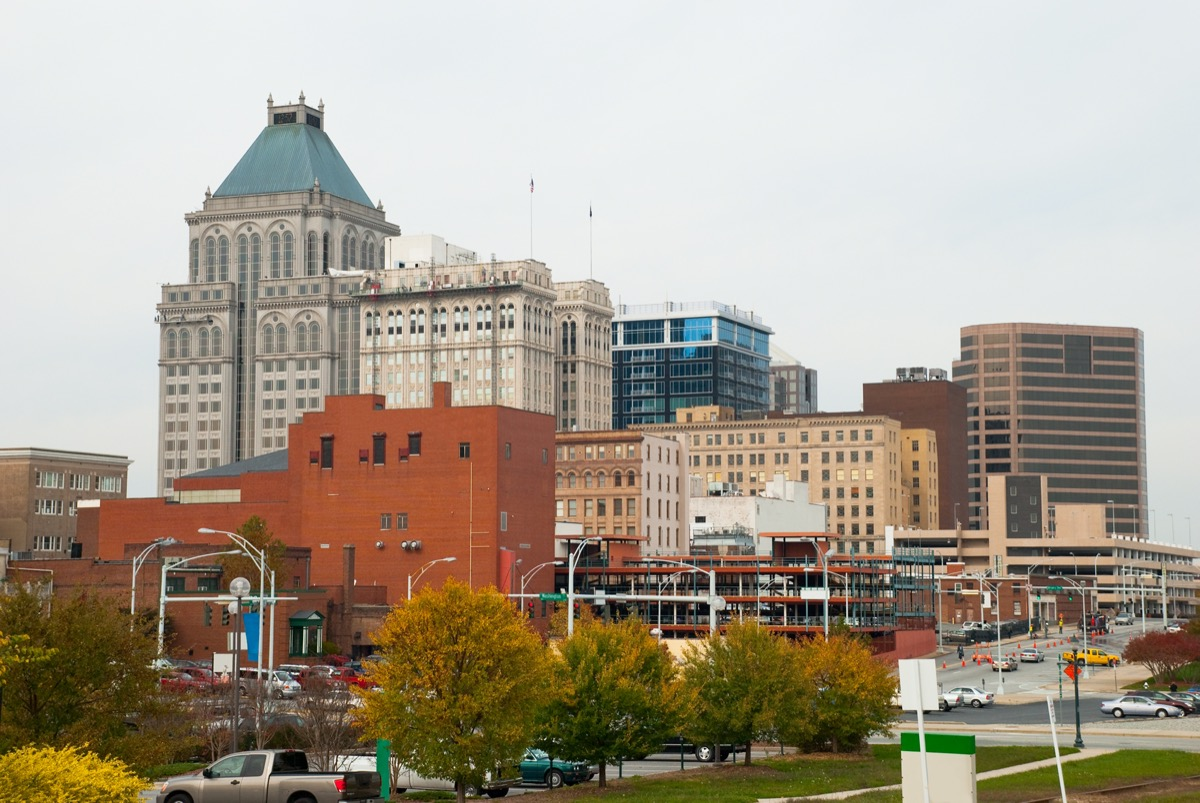 city skyline of Greensboro, North Carolina