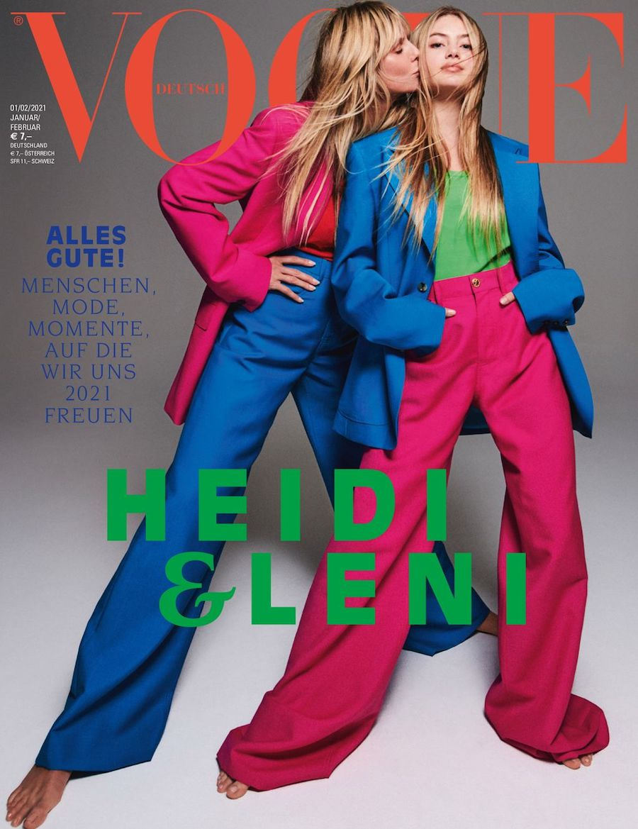 heidi and leni klum on vogue germany cover for jan/feb 2021