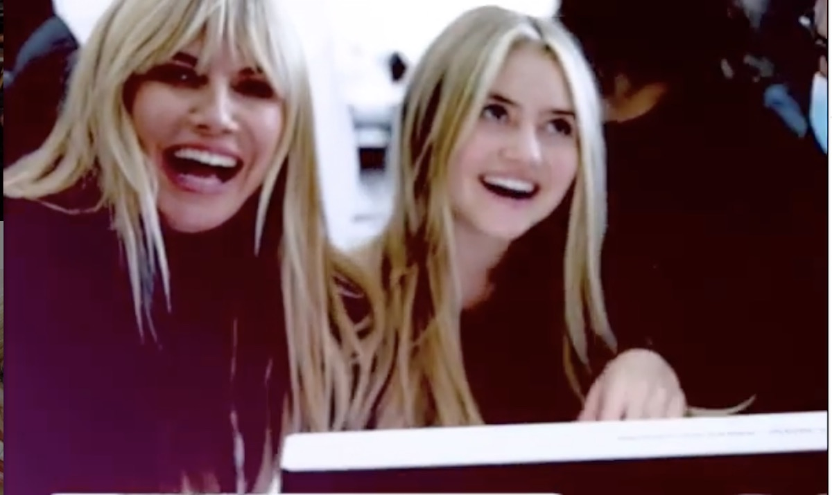 heidi and leni klum, behind the scenes on the set of vogue
