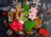 plate of holiday cookies