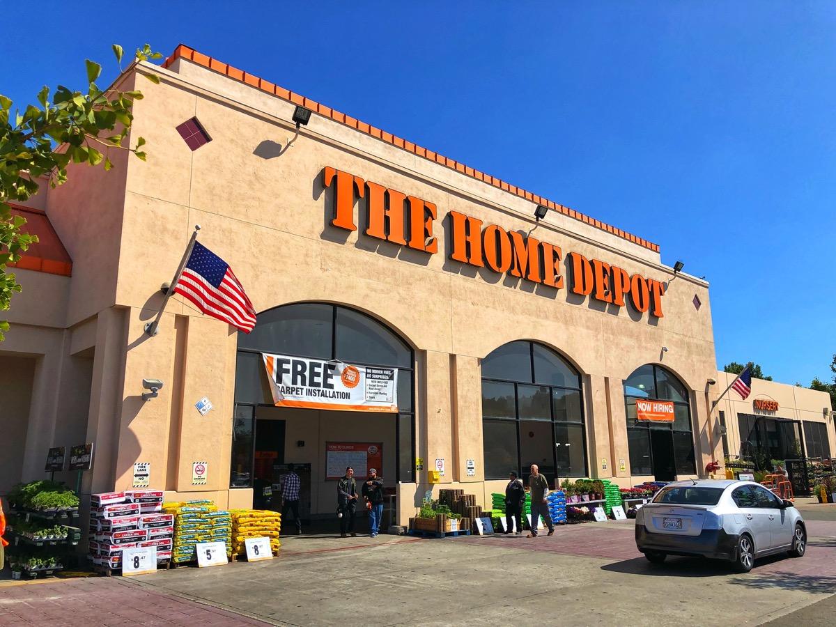 the outside of the Home Depot store in El Cerrito, California