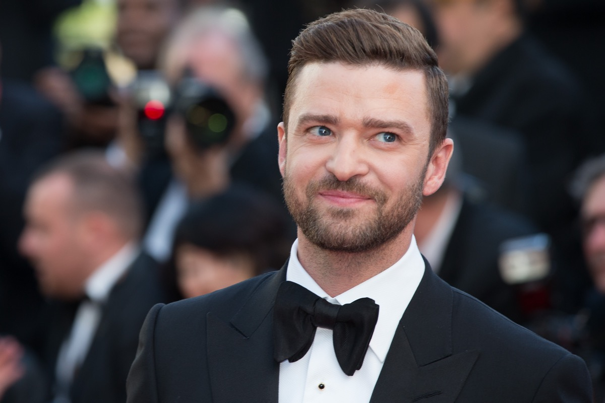 Justin Timberlake at the premiere of 'Cafe Society' in 2016