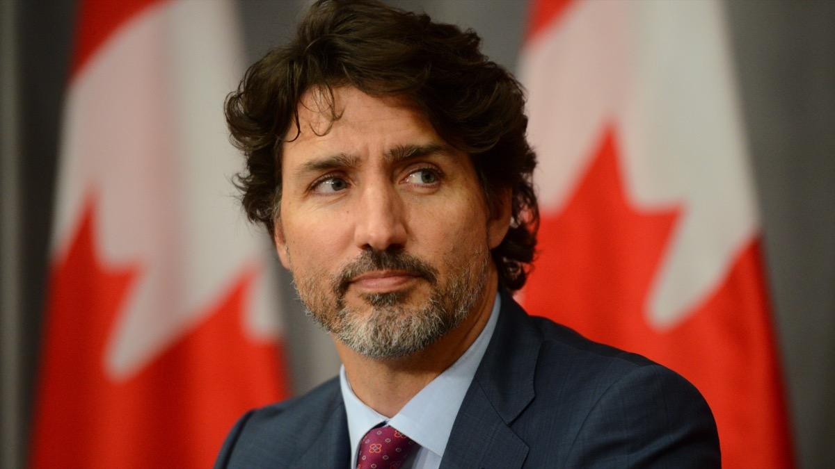 Justin Trudeau in London, UK in 2020