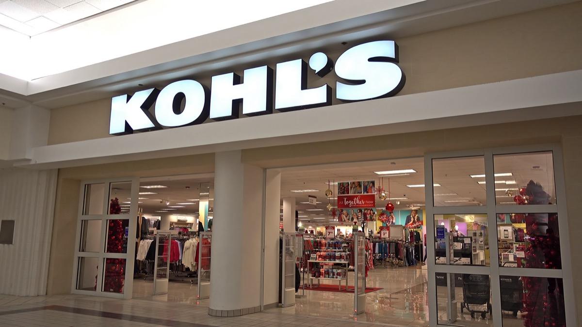 the entrance of a Kohl's store in Danvers, Massachusetts