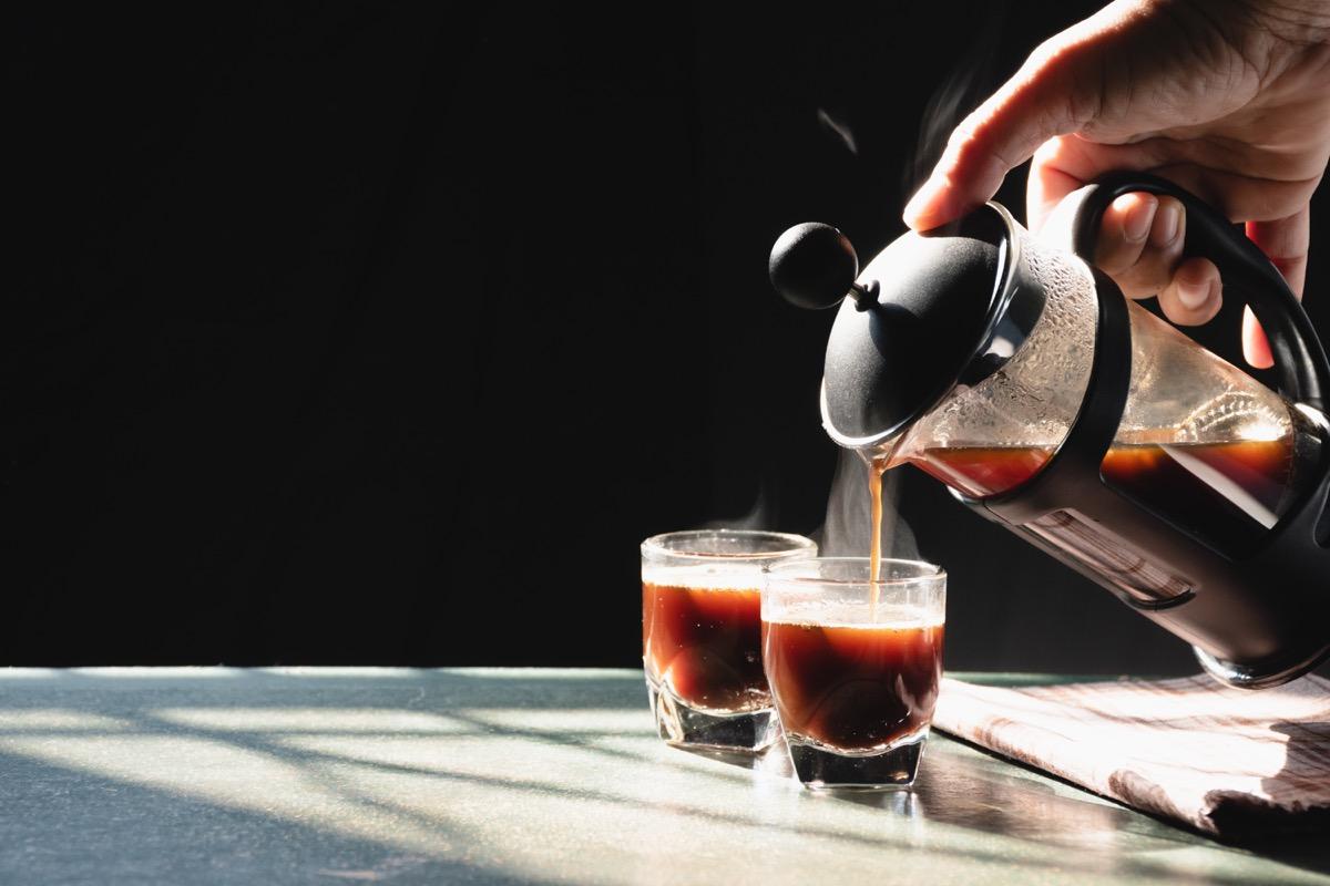 Light roast coffee in glasses