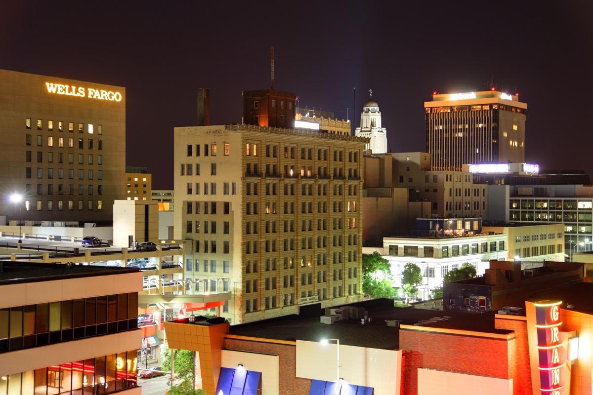 cityscape photo of Lincoln, Nebraska at nigh