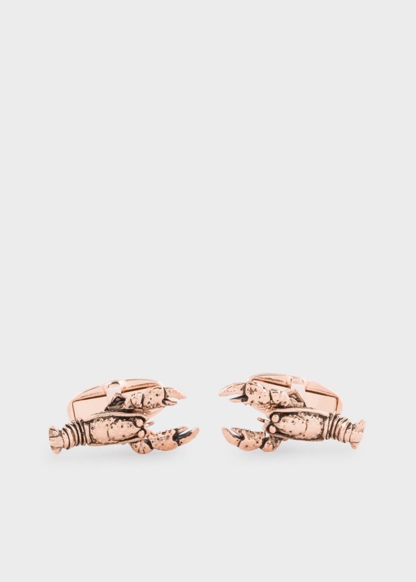 copper lobster cufflinks