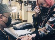 madonna posts instagram of her getting her first tattoo