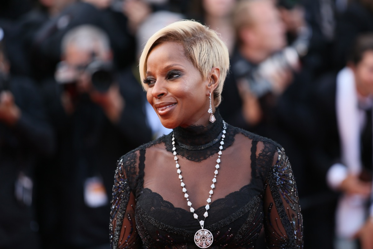 Mary J. Blige at the Cannes Film Festival in 2017