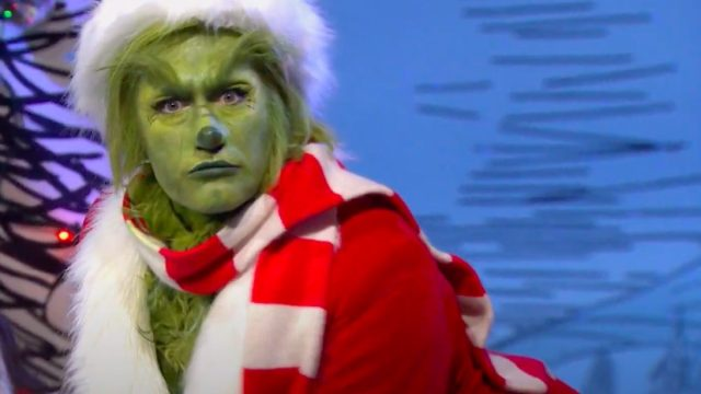 first look at Matthew Morrison playing the grinch in the live tv musical