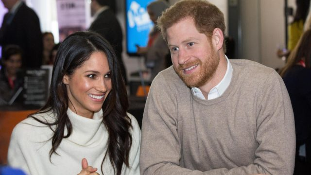 Meghan Markle and Prince Harry smiling together
