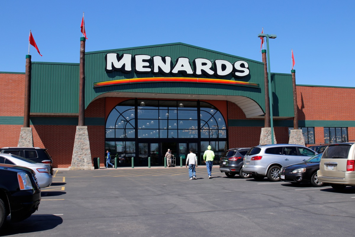 the outside of a Menards store in Tipp City, Ohios