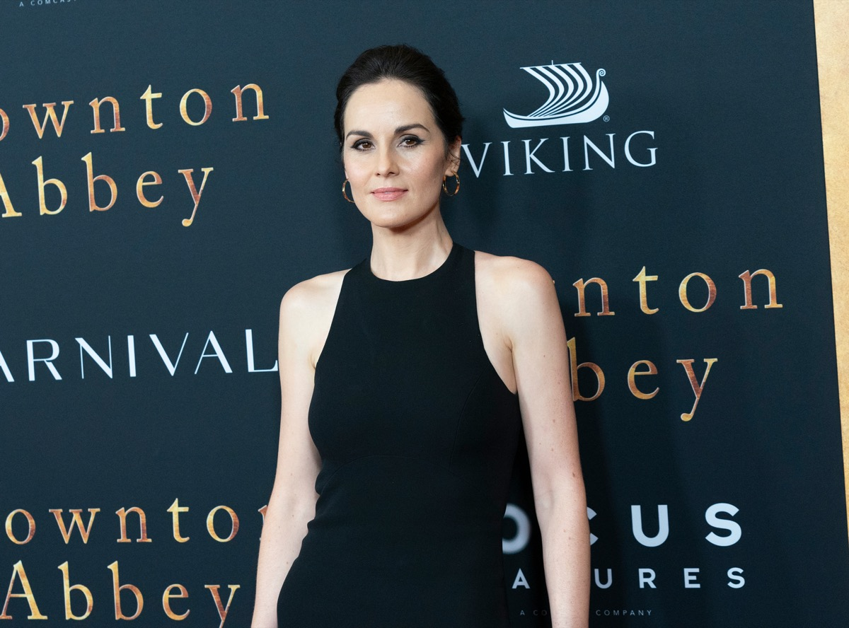 Michelle Dockery at the premiere of 'Downtown Abbey' in 2019