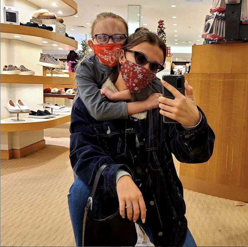 millie bobbi brown posts selfie on Instagram while shopping