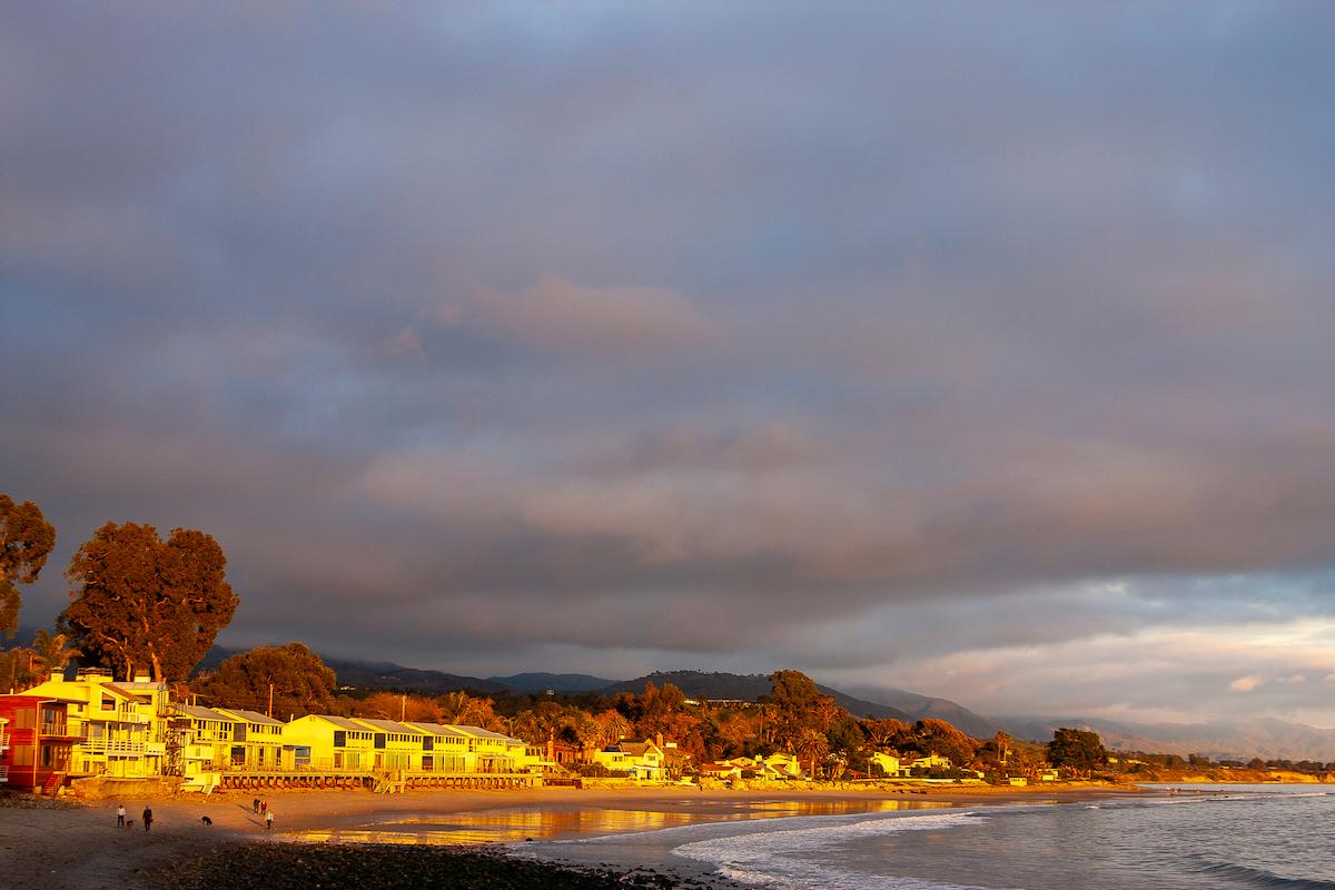 Sunset on the ocean in Montecito California