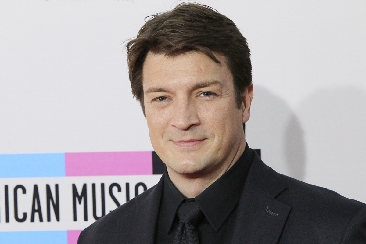 Nathan Fillion at the American Music Awards in 2013