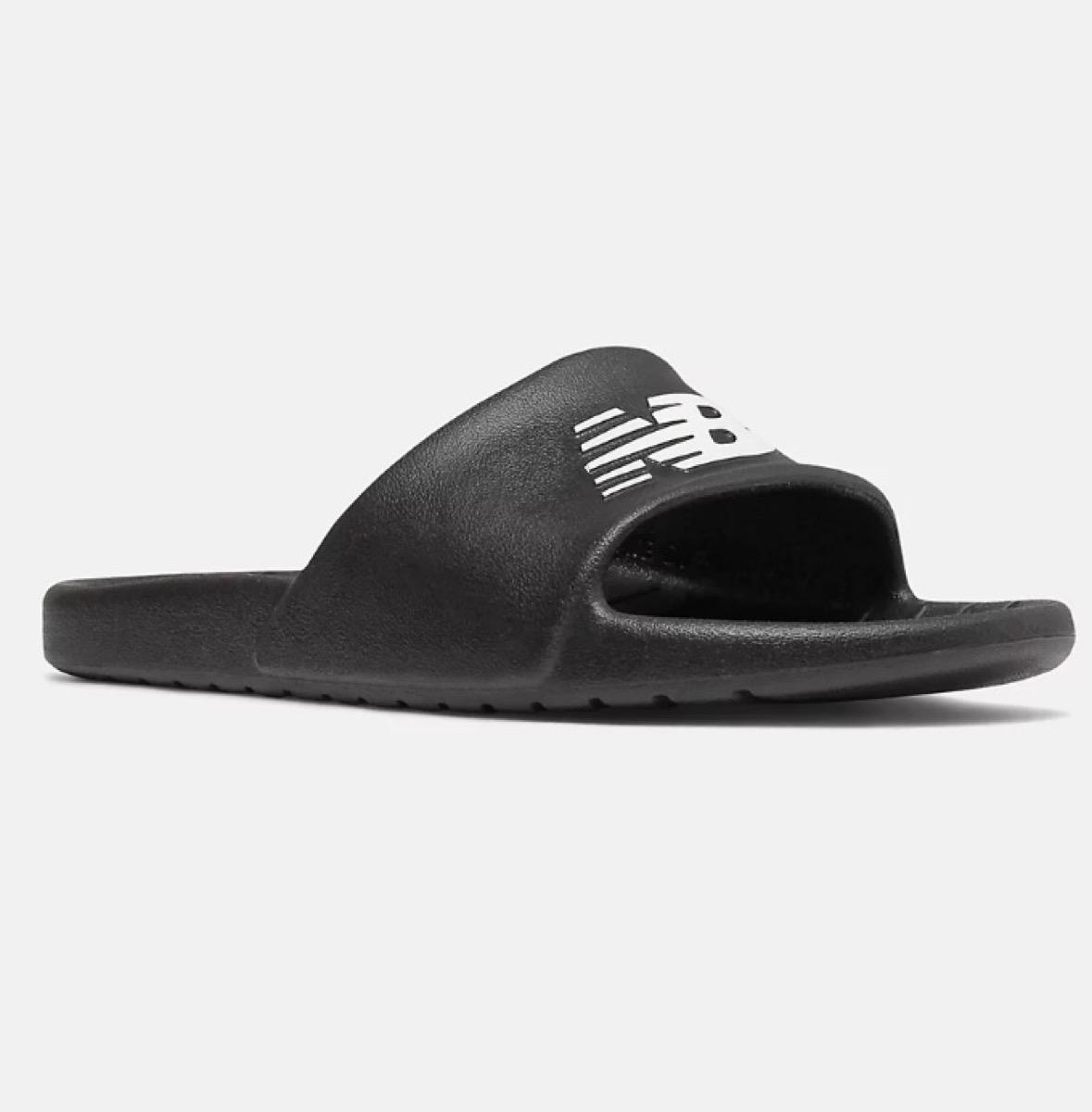 black new balance slides