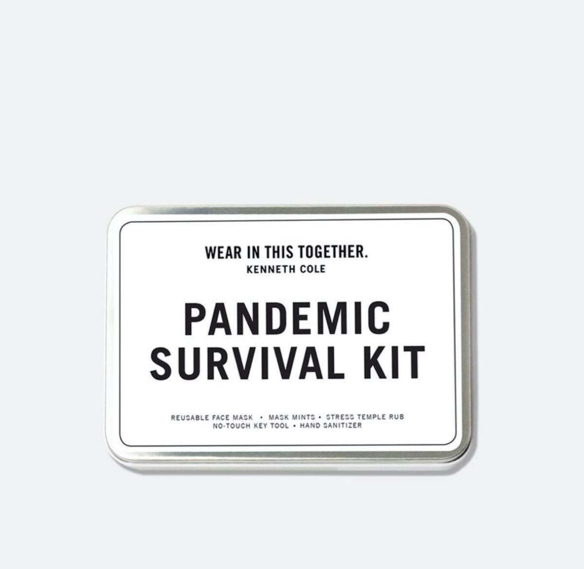 pandemic survival kit in white box