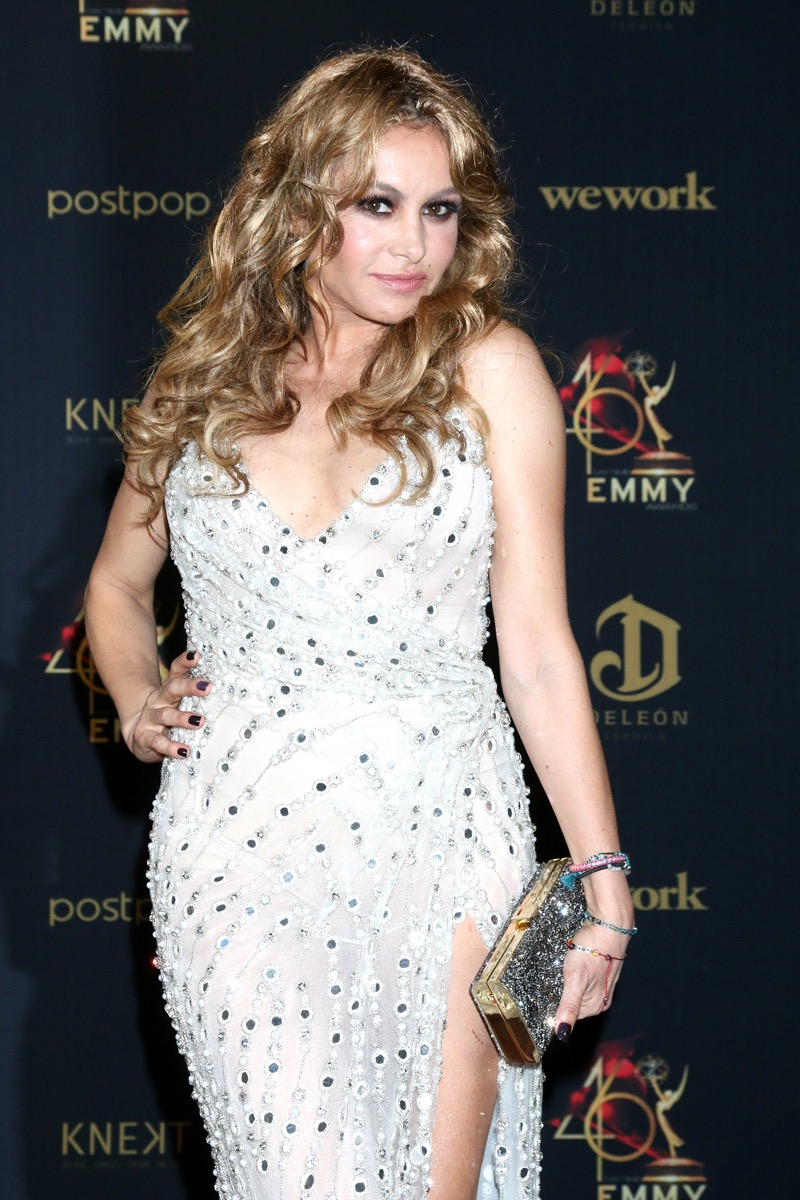 Paulina Rubio at the Daytime Emmy Awards in 2019
