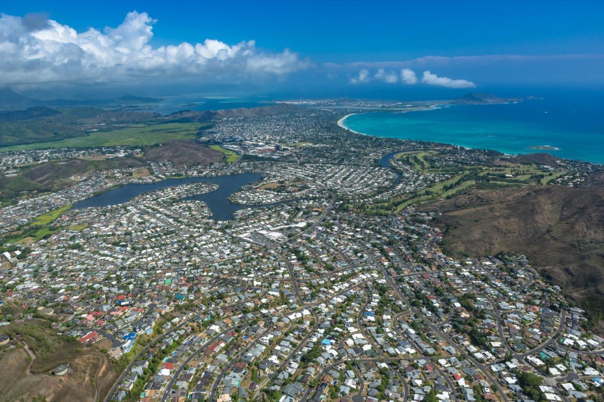 pearl city hawaii aerial view