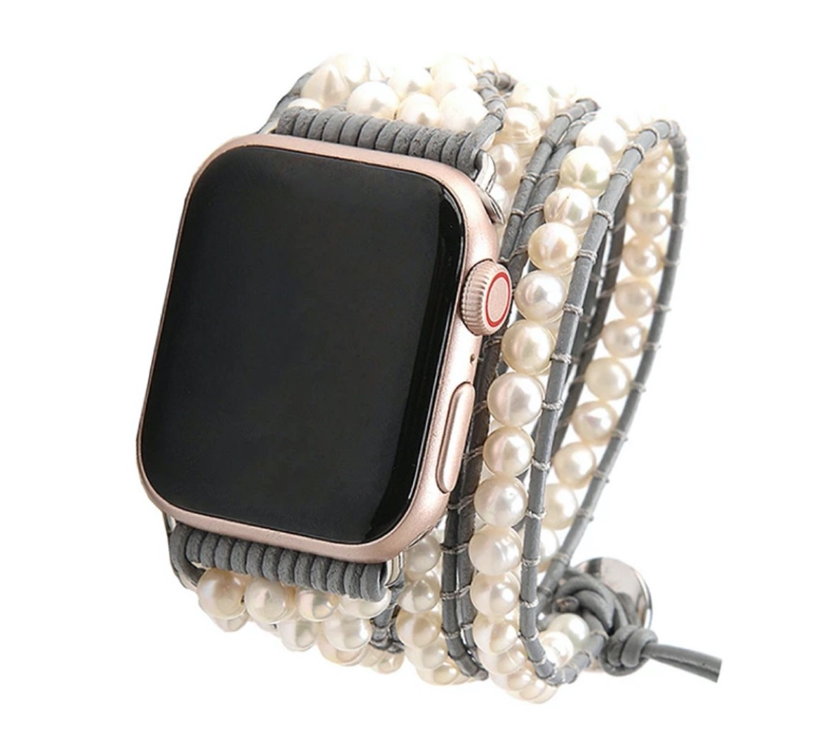 apple watch with pearl strap