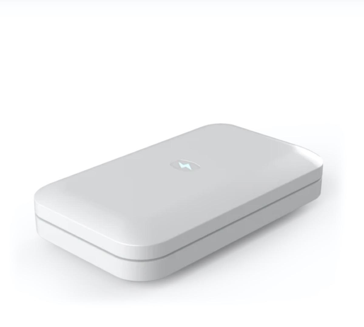 white UV phone sanitizing case