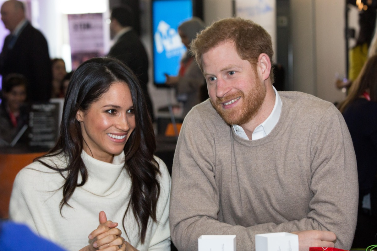 Megan Markle and Prince Harry at the Millennium Point in Birmingham