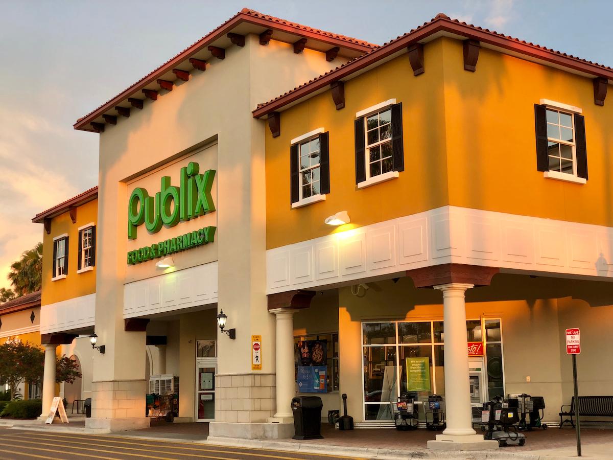 Front entrance of Publix Super Markets Saint Augustine, Florida