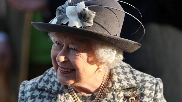 Queen Elizabeth leaves St. Mary the Virgin church in Hillington, near royal Sandringham estate, in Norfolk, Britain January 19, 2020.