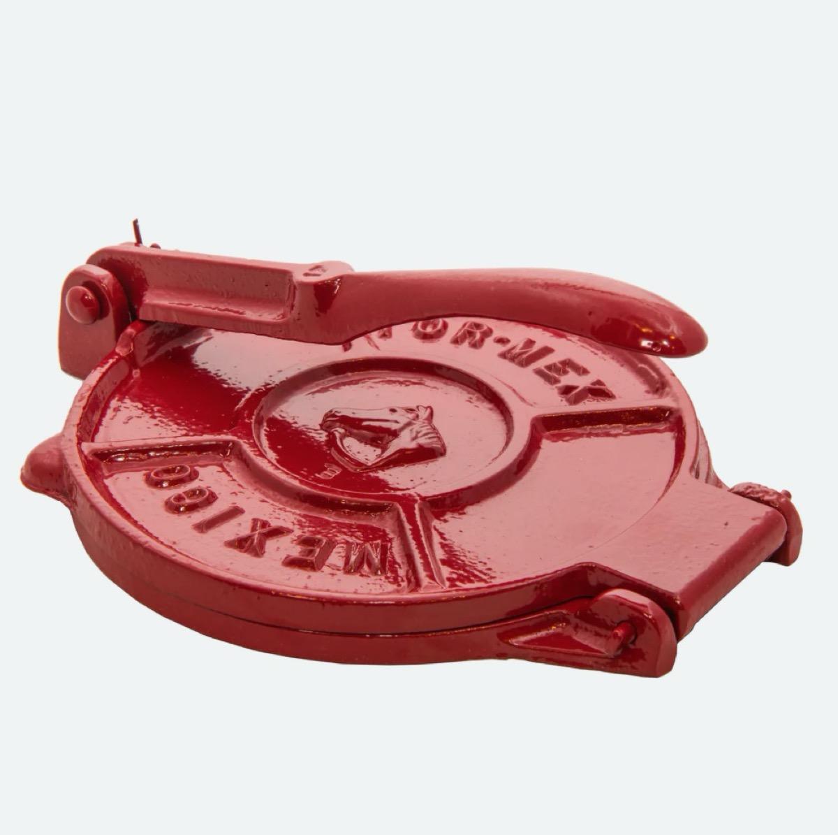 red tortilla press