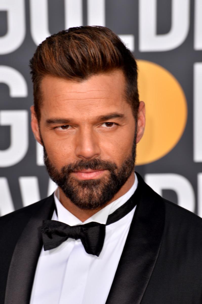 Ricky Martin at the Golden Globe Awards in 2019