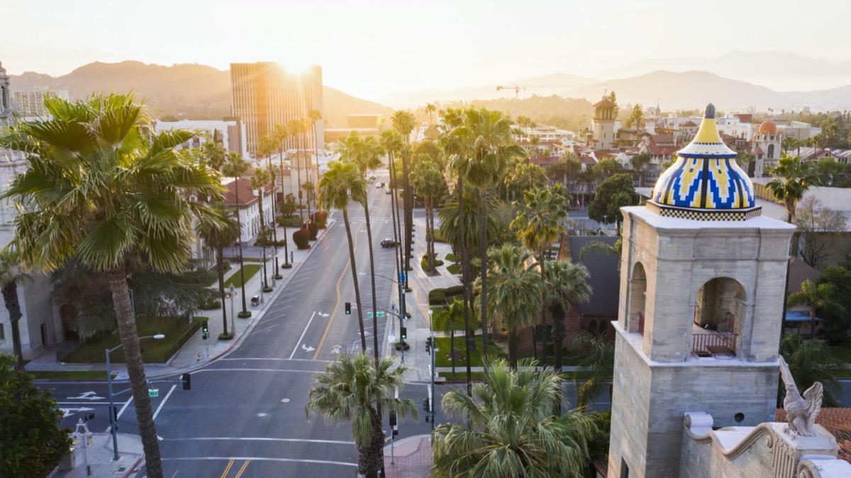 cityscape photo of Riverside, California at sunset
