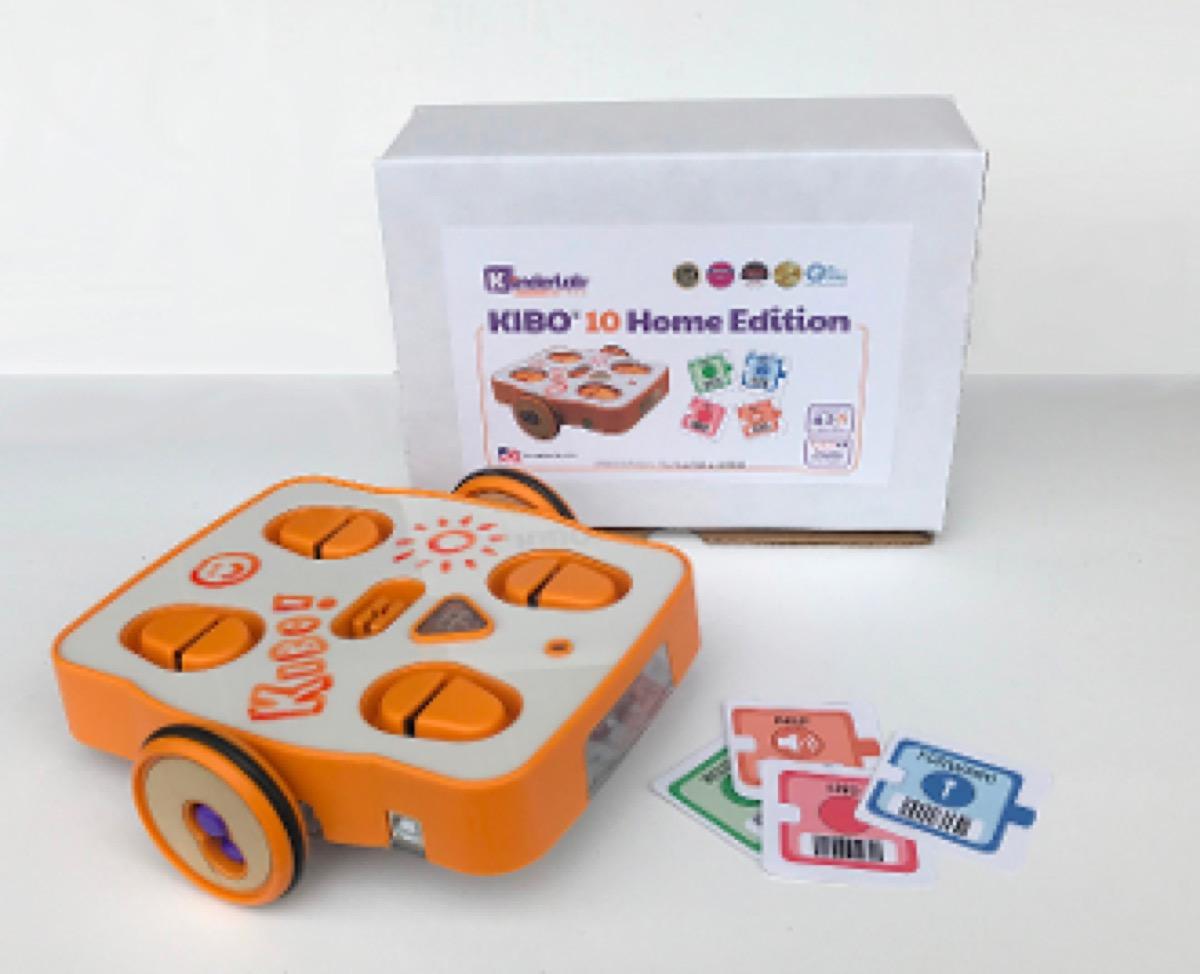 orange rolling robot