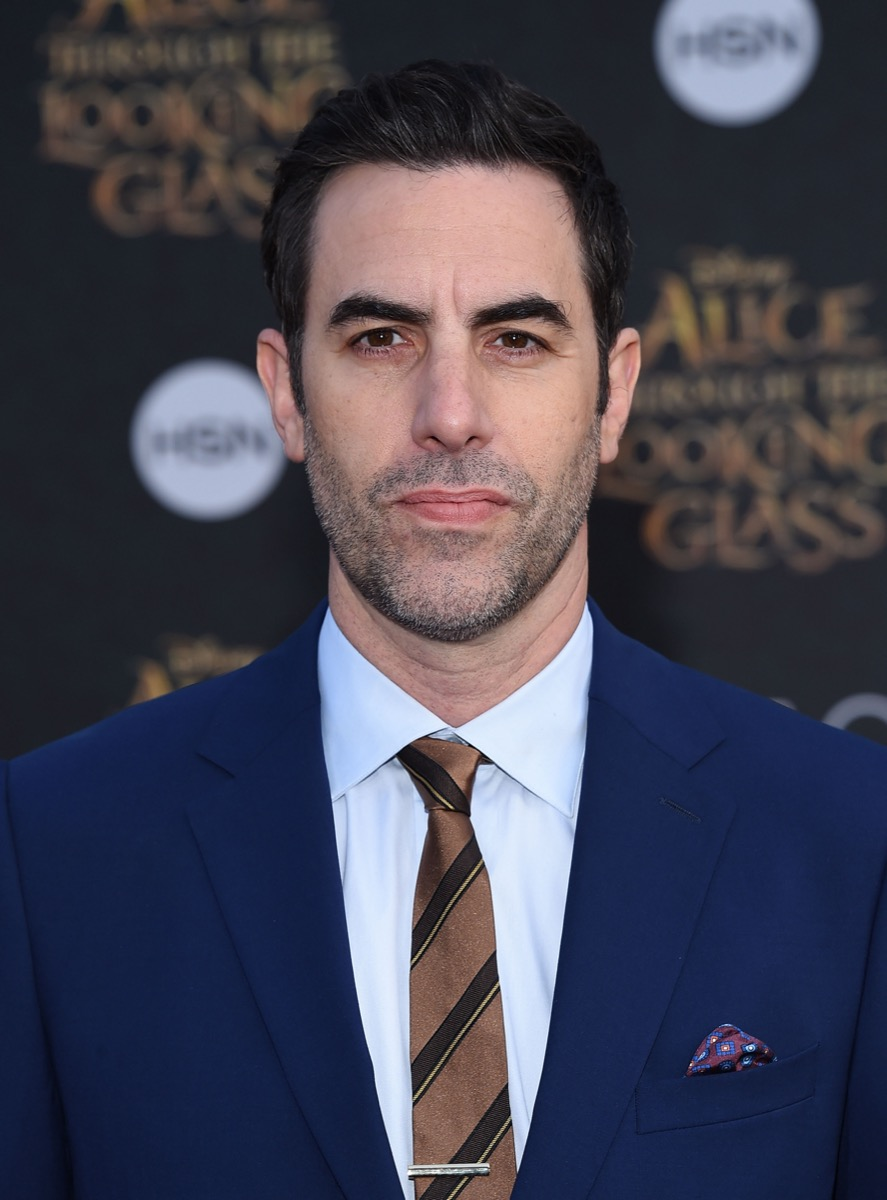 Sacha Baron Cohen at the premiere of 'Alice Through the Look Glass' in 2016