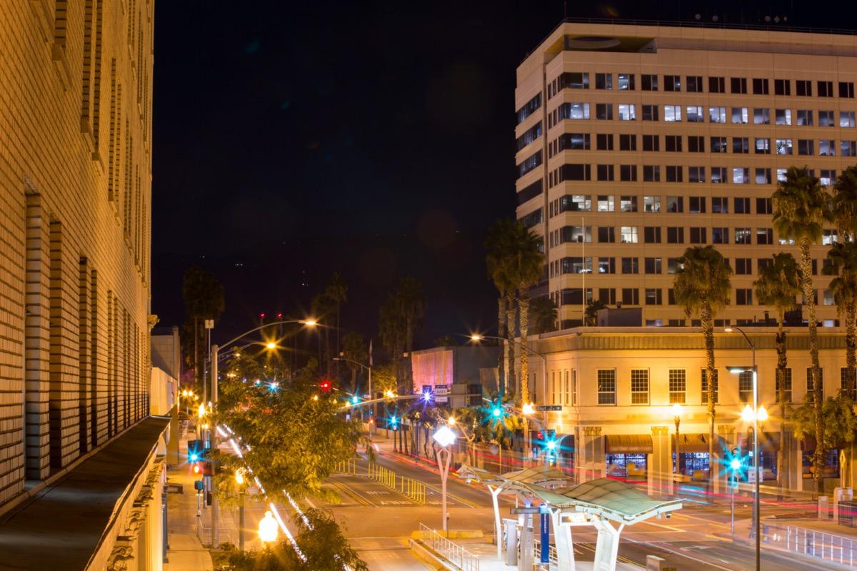 san bernardino, california cityscape