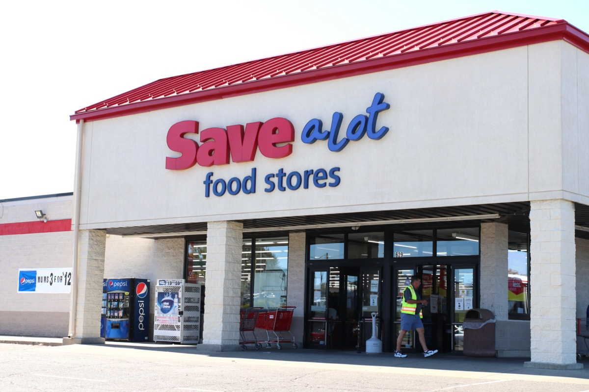 the outside of a Save A Lot store in Lancaster, Ohio