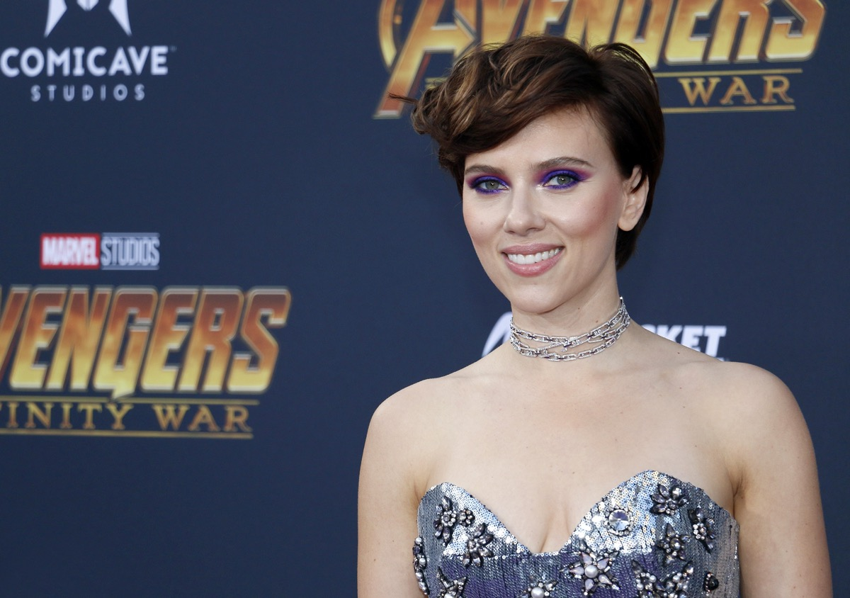 Scarlett Johansson at the premiere of 'Marvel's Avengers: Infinity Wars' in 2018