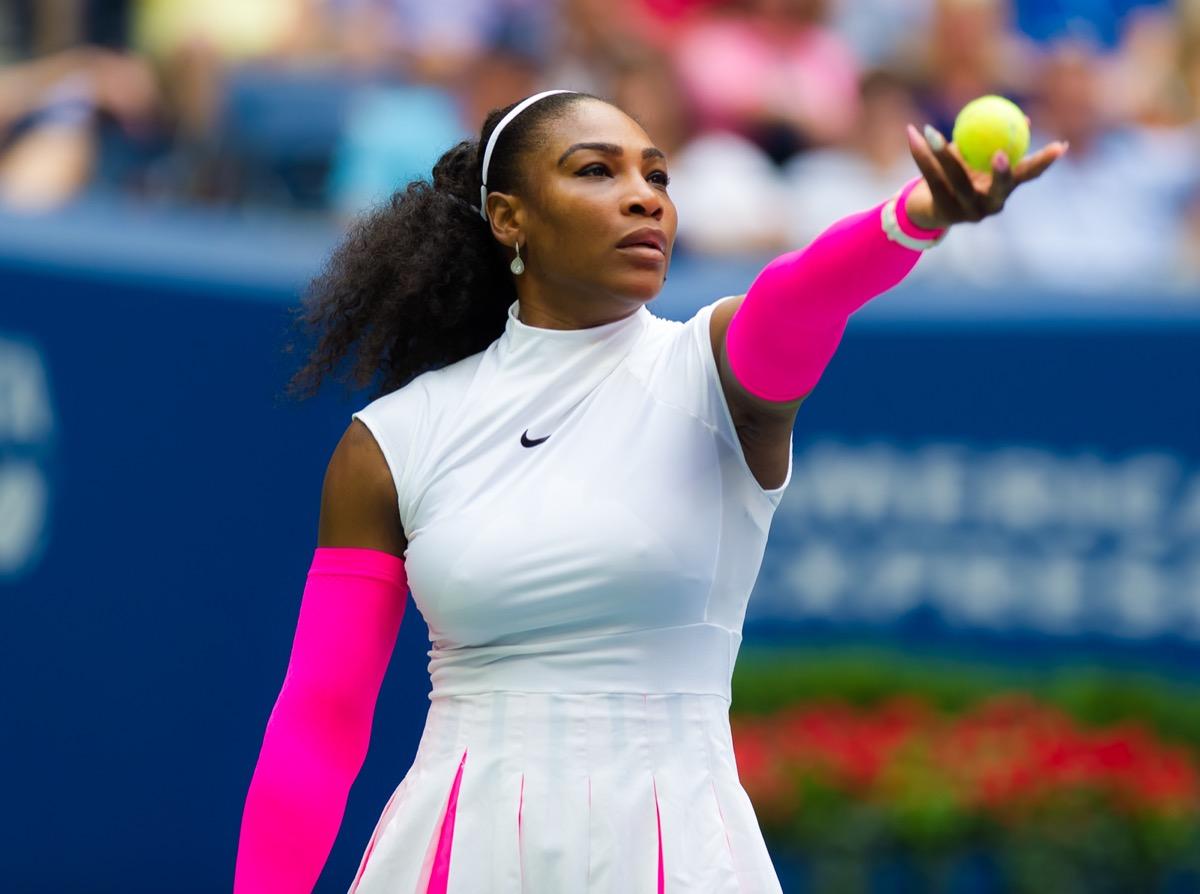 Serena Williams at the U.S. Open Grand Slam Tennis Tournament in 2016