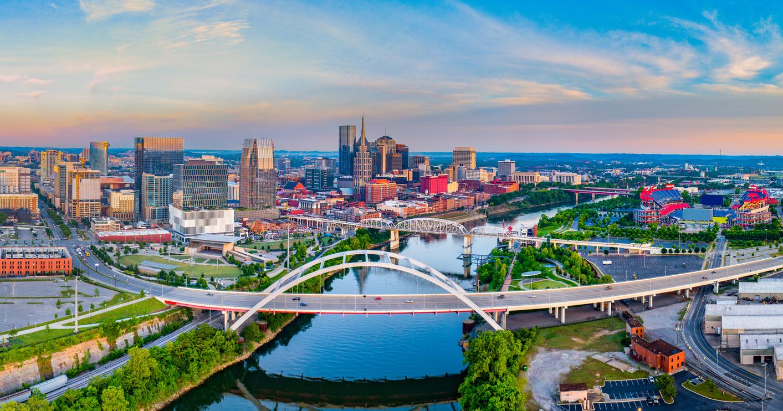 The skyline of Nashville, Tennessee