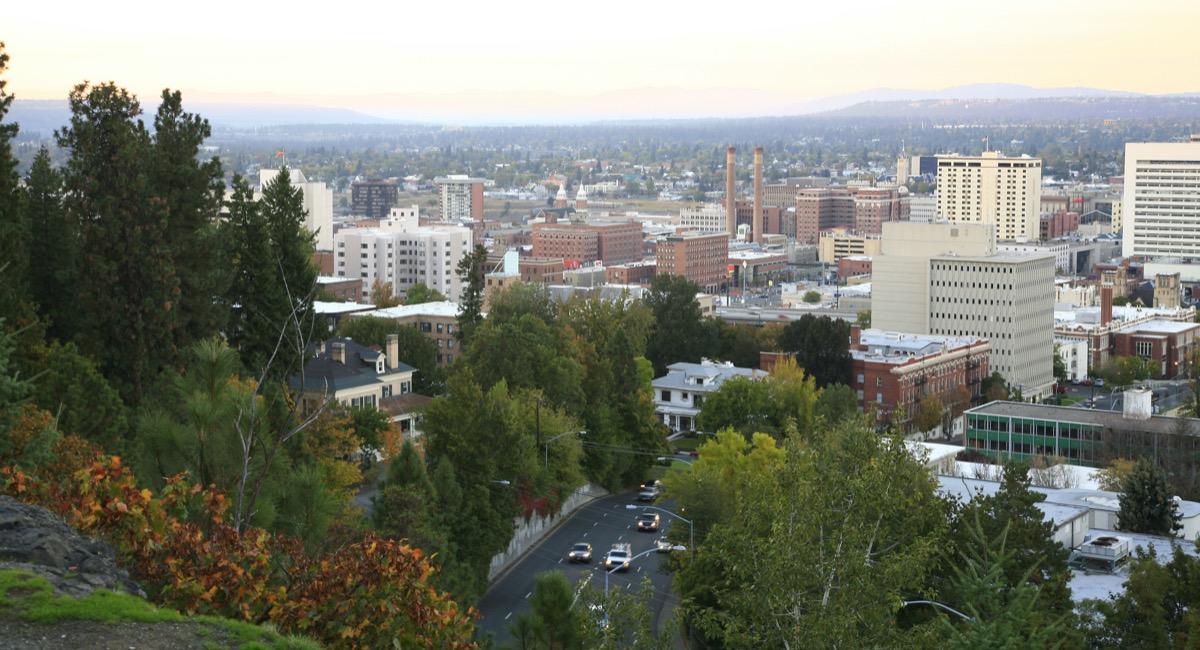 cityscape photo of downtown Spokane, Washington