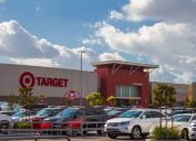 Burbank CA USA: November 27 2017: Target Store Exterior view of a Target retail store. Target Corporation is an American retailing company headquartered in Minneapolis, Minnesota. It is the second-largest discount retailer in the United States. The store is shown during the holiday season.