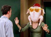 Monica on 'Friends' with turkey head