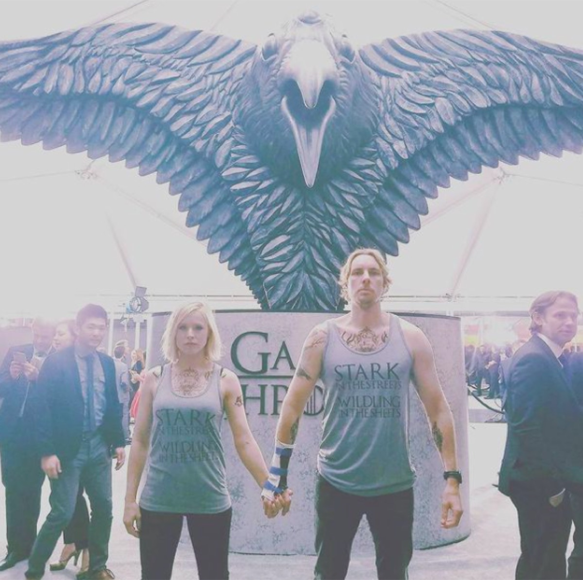 """Kristen Bell and Dax Shepard at """"Game of Thrones"""" premiere"""