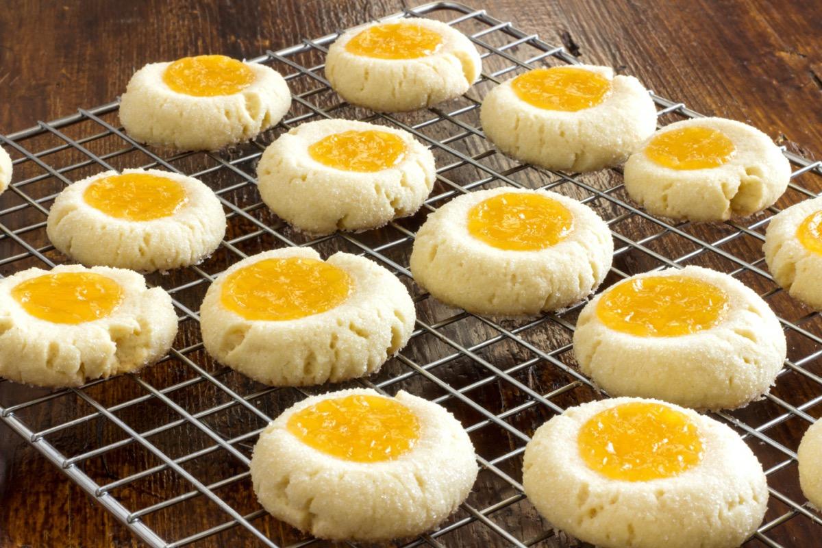 thumbprint cookies with marmalade