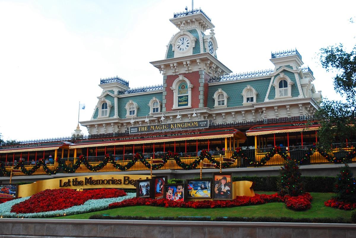 The Historic Train Station at Disney World in Orlando, Florida