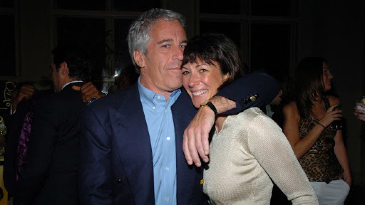 Jeffrey Epstein and Ghislaine Maxwell attend de Grisogono Sponsors The 2005 Wall Street Concert Series Benefitting Wall Street Rising, with a Performance by Rod Stewart at Cipriani Wall Street on March 15, 2005 in New York City