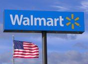 Walmart store highway sign in Saugus, Massachusetts USA