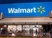 People shopping at Walmart in the evening, south San Francisco bay area