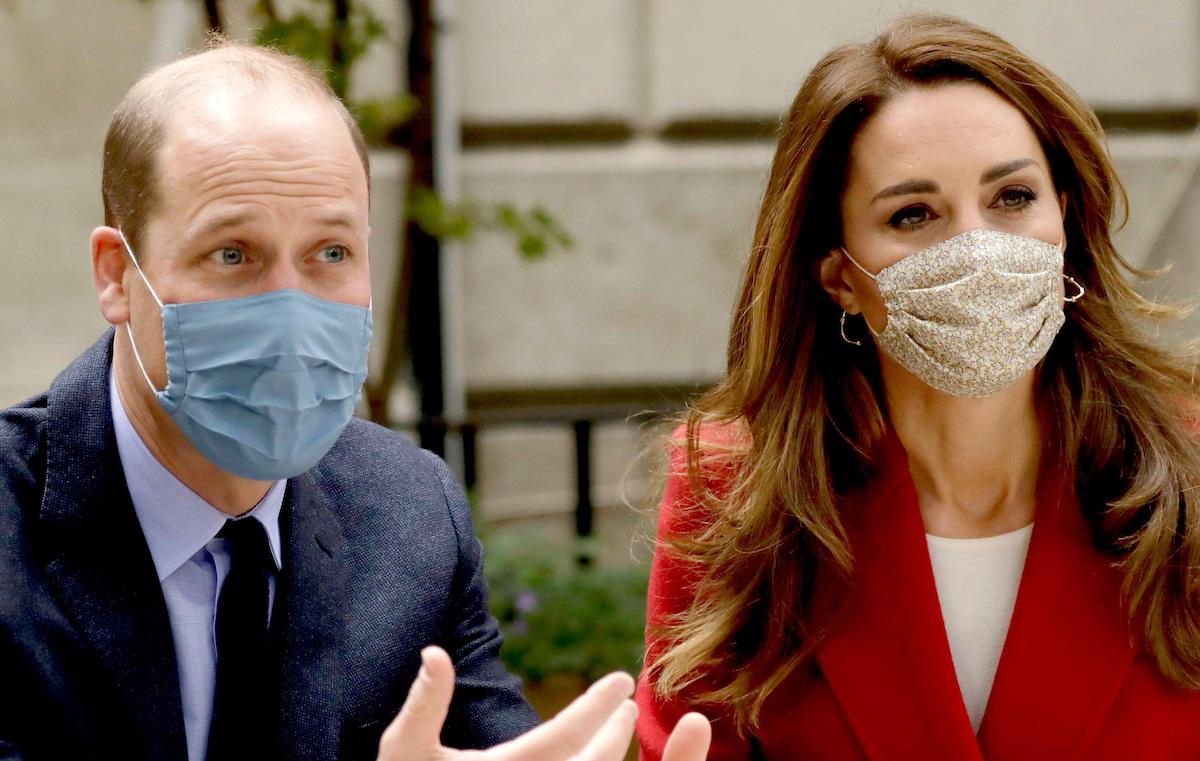 The Duke and Duchess of Cambridge talk with medical staff during a visit to St. Bartholomew's Hospital in London, to mark the launch of the Hold Still photography project.